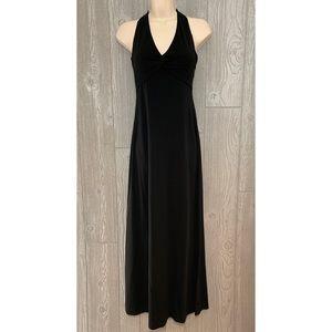 BCBGMaxAzria Black Halter Maxi Dress S